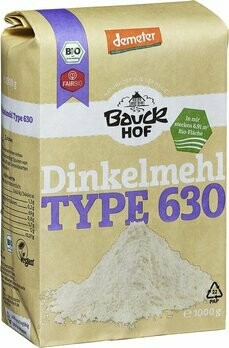 Dinkelmehl Hell Type 630 demeter, 1 kg