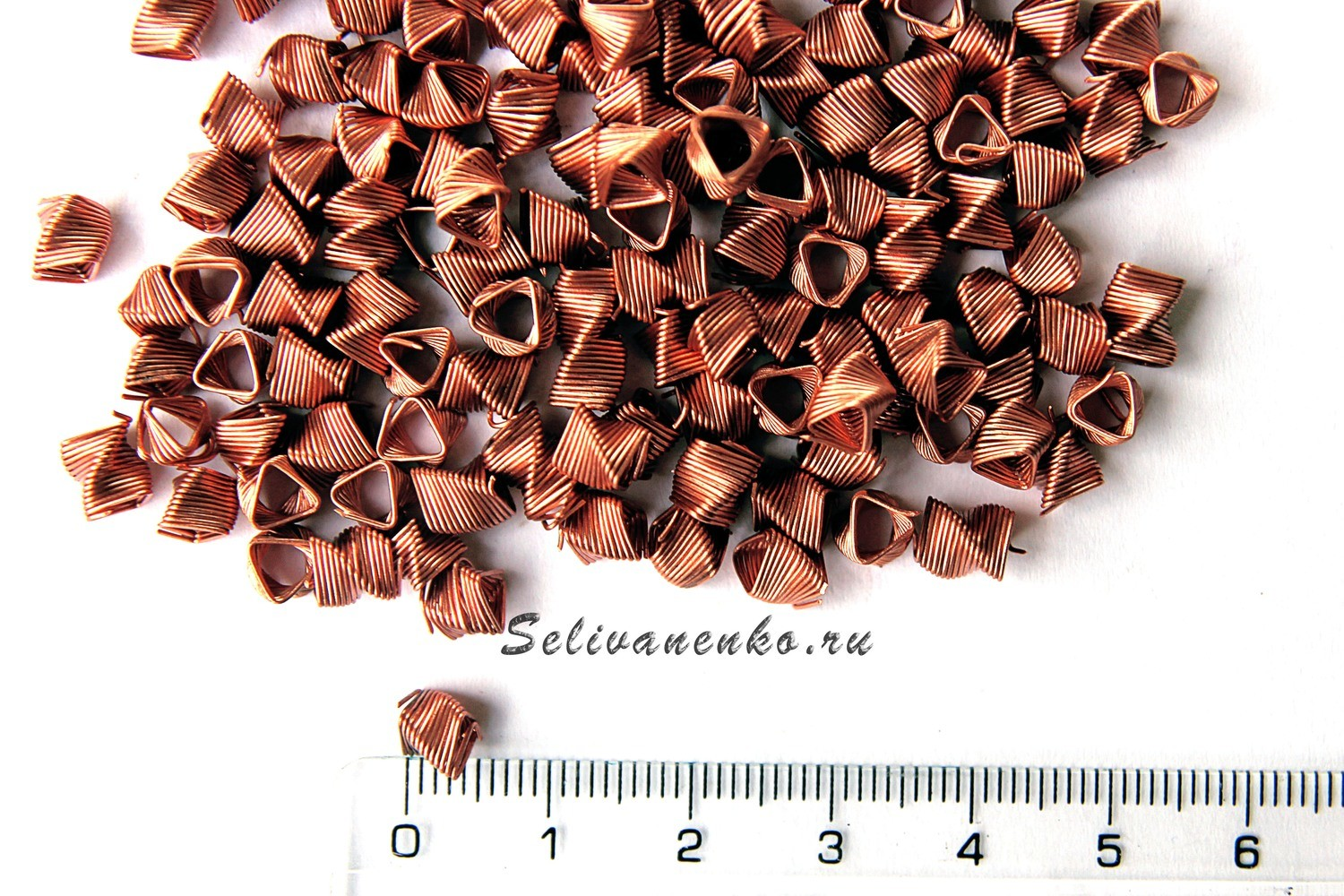 Spiral prismatic packing (SPP) SELIVANENKO. Material: Copper. Volume: 0.1 L