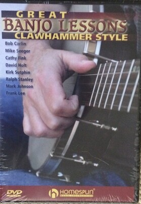 Great Banjo Lessons Clawhammer Style Homespun DVD