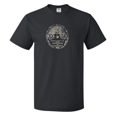 Men's Black Patty Record Label T-Shirt