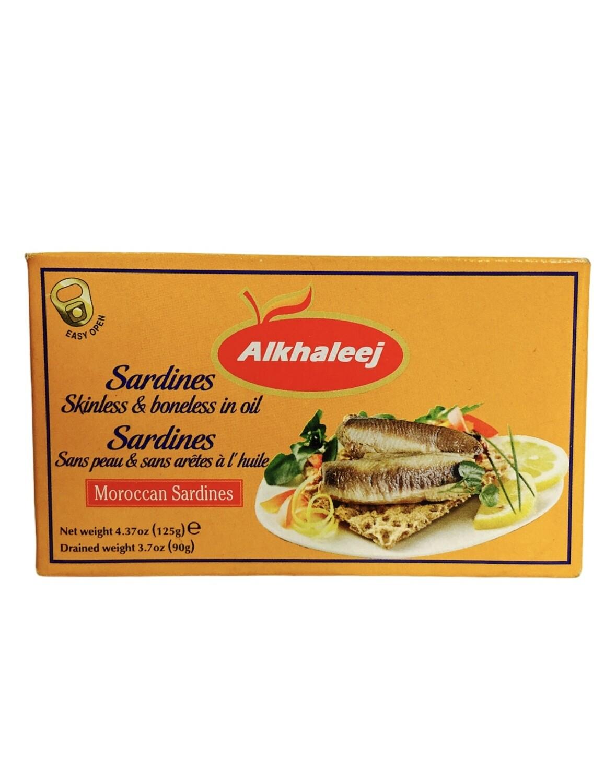 Alkhaleej Skinless & Boneless Sardines In Oil 50x125g