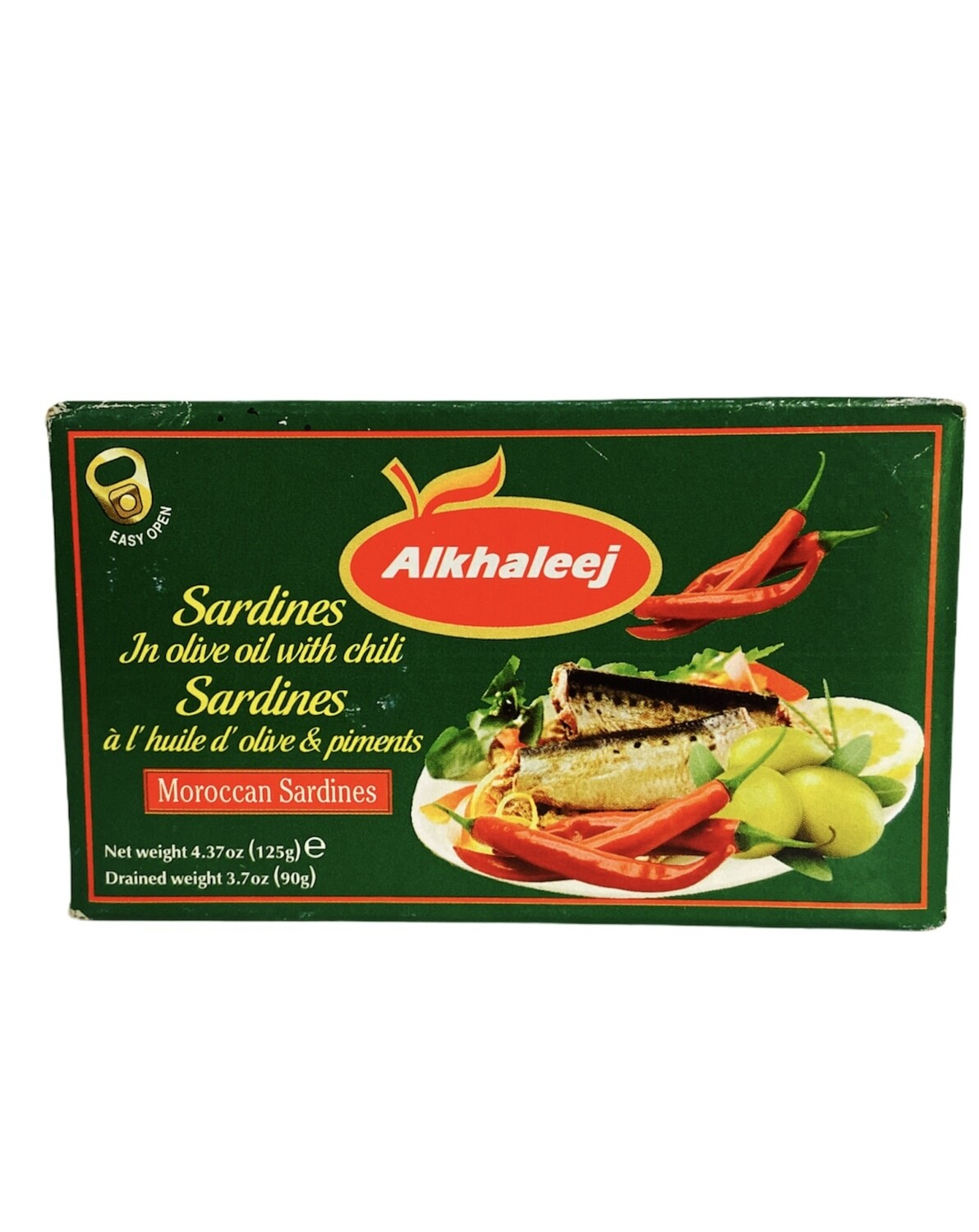Alkhaleej Sardines In Olive Oil & Chili Pepper 50x125g