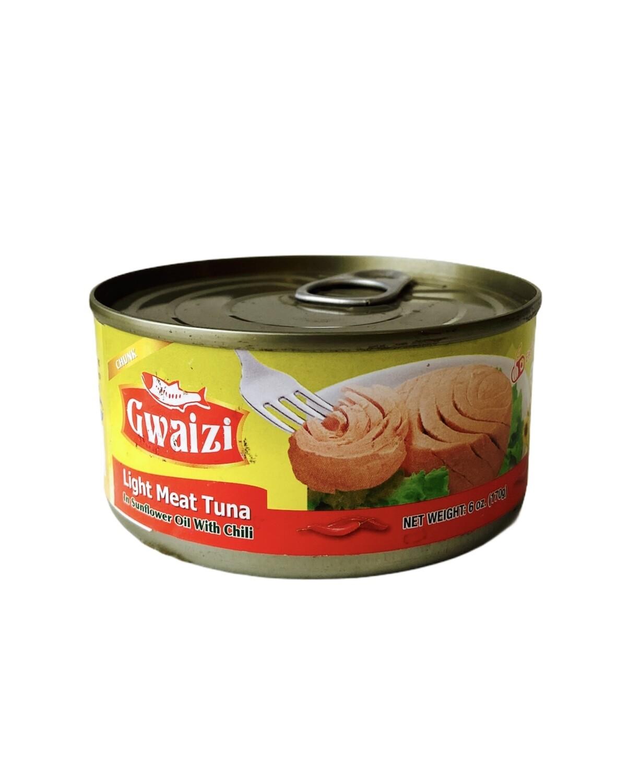 Gwaizi Tuna With Spicy Sunflower Oil 48x185g