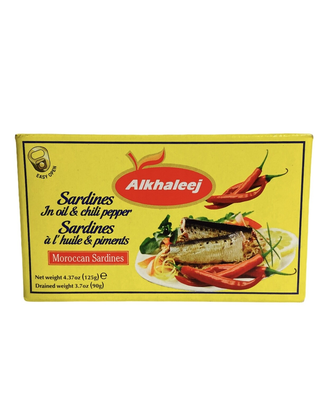 Alkhaleej Sardines In Oil & Chilli Pepper 50x125g