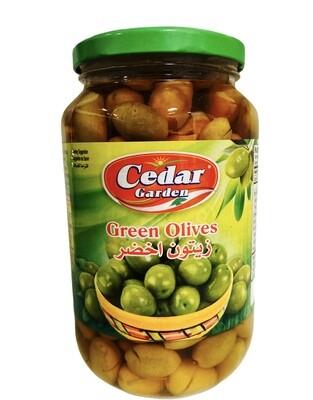 Cedar Garden Green Olives 12x900g