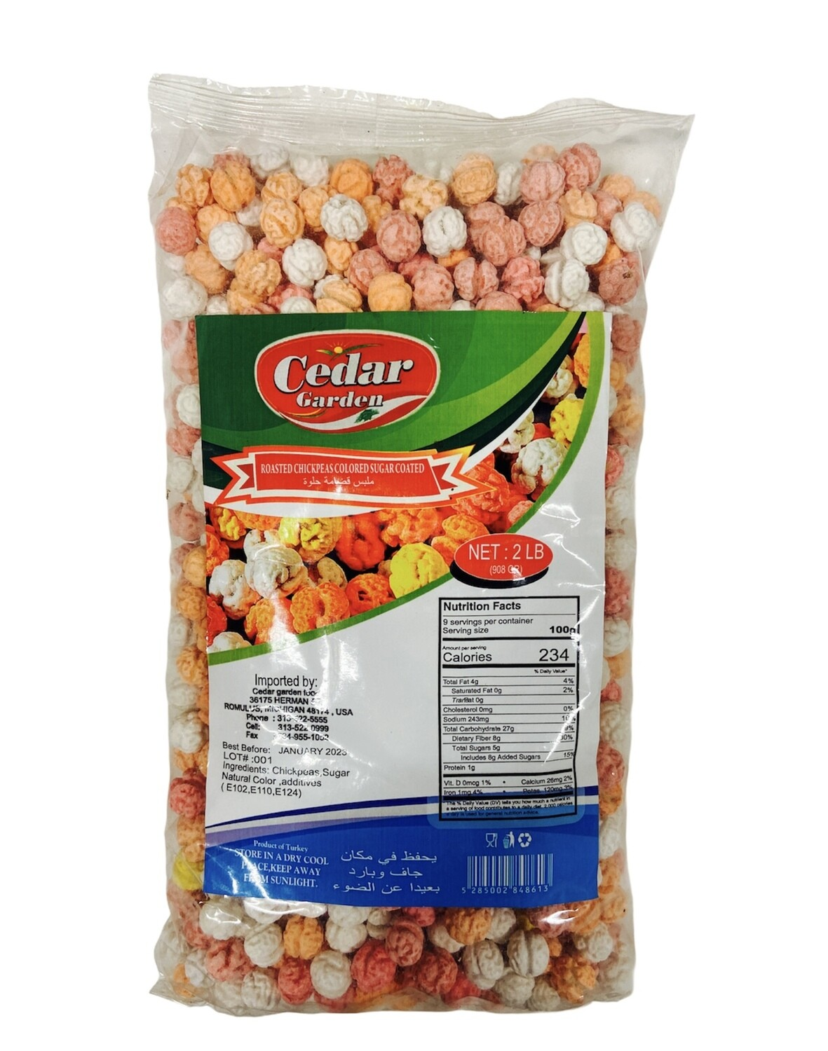 Cedar Garden Roasted Sugar Coated Colored Chickpeas
