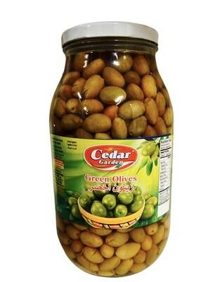 Cedar Garden Green Olives 4x3200g