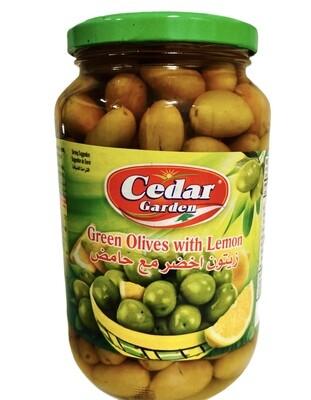 Cedar Garden Green Olives With Lemon 12x900g