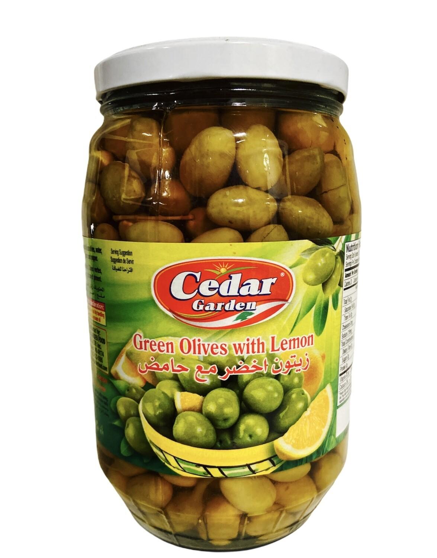 Cedar Garden Green Olives With Lemon 6x1700g