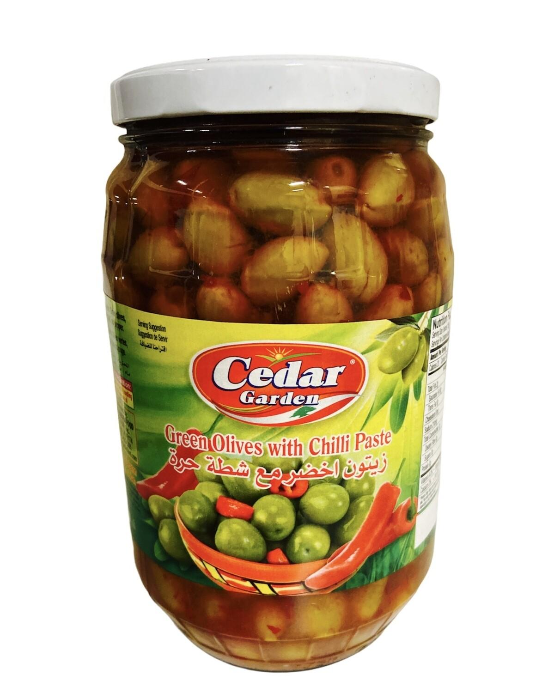 Cedar Garden Green Olives With Chili Paste 6x1700g