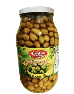 Cedar Garden Green Olives With Lemon 4x3200g