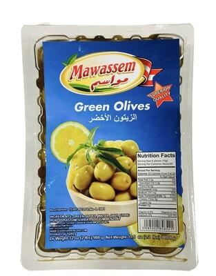 Mawassem Vaccum Green Olives 12x908g
