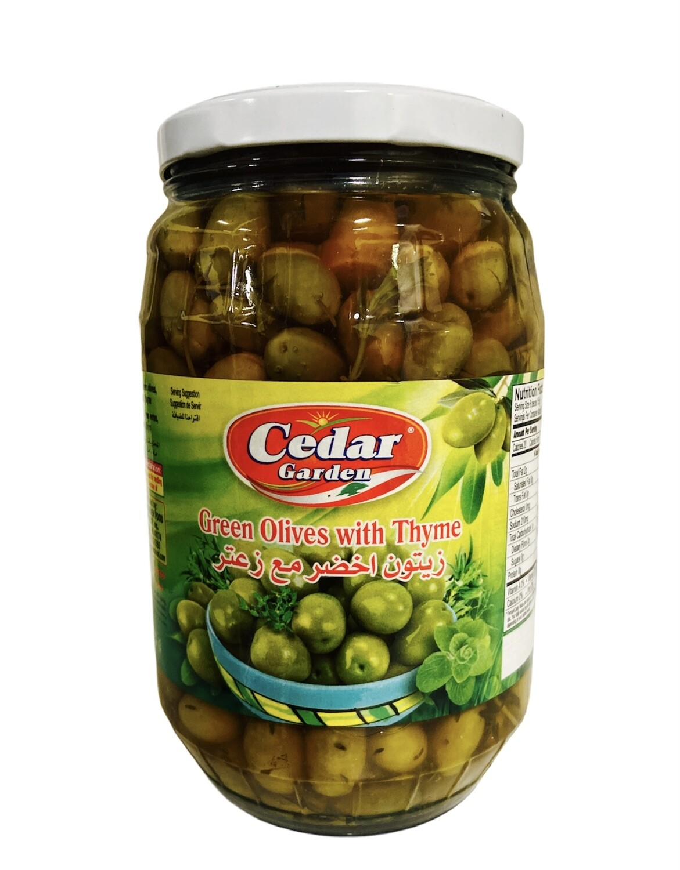 Cedar Garden Green Olives With Thyme 6x1700g