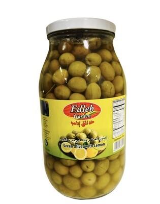 Edleb Green Olives With Lemon 4x3200g