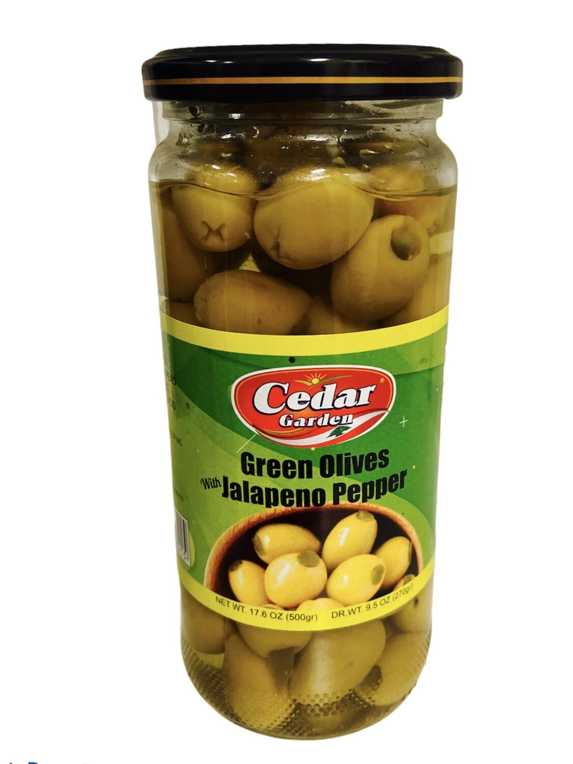 Cedar Garden Green Olives With Jalapeno Peppers