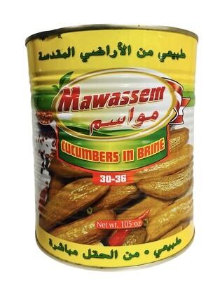 Mawassem Pickled Cucumbers Count 30/36 6x6lb