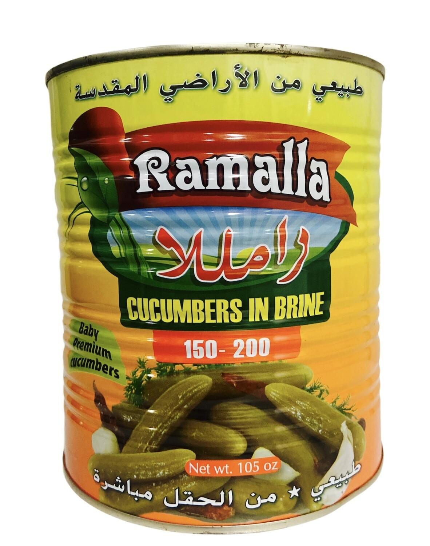 Ramalla Pickled Cucumbers Count 150/200 6x6lb