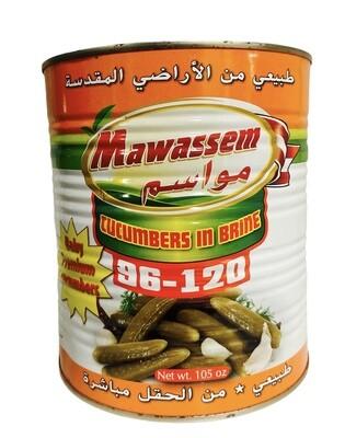 Mawassem Pickled Cucumbers Count 96/120 6x6lb