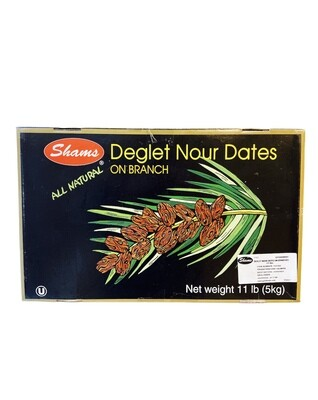 Shams Deglet Nour Branch Dates 11lb