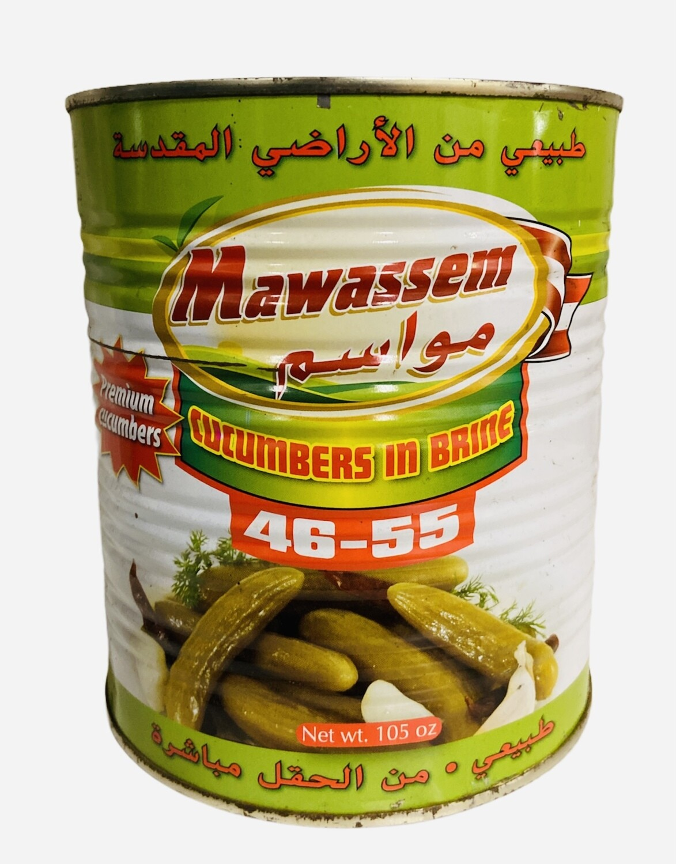 Mawassem Pickled Cucumber Count 46/55 6x6lb