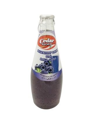 Cedar Garden Blueberry Drink With Basil Seeds 12x250ml