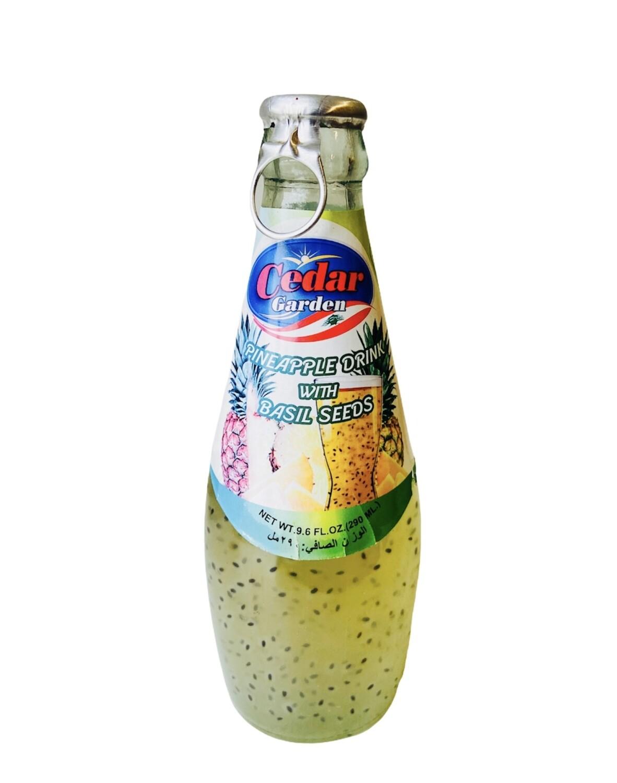 Cedar Garden Pineapple Drink With Basil Seeds 24x290ml