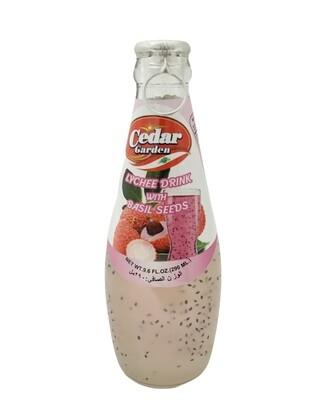 Cedar Garden Lychee Drink With Basil Seeds 24x250ml