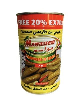 Mawassem Pickled Cucumber Count 7/9 24x1lb