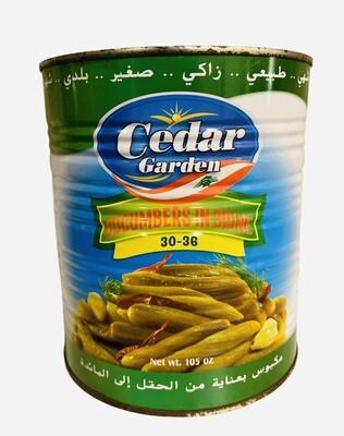 Cedar Garden Pickled Cucumbers Count 30/36 6x6lb