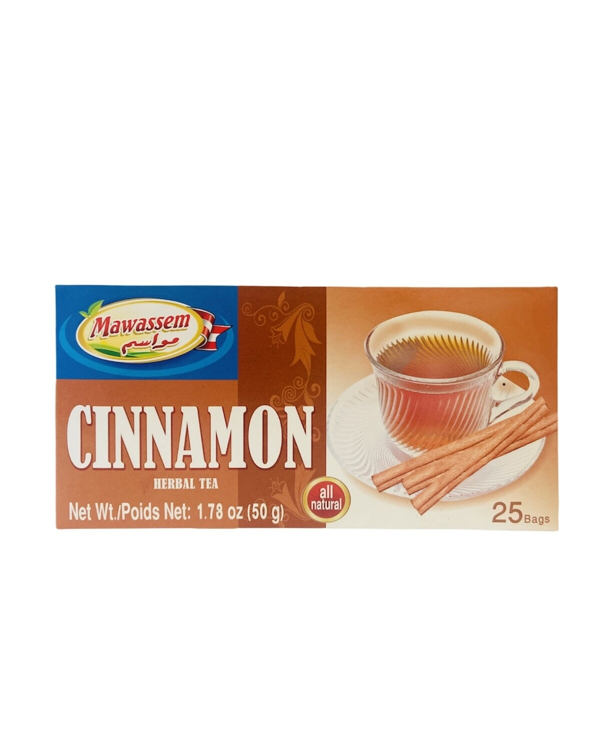 Mawassem Cinnamon Herbal Tea 24x50gx25b