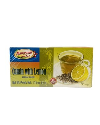 Mawassem Cumin With Lemon Herbal Tea 24x50gx25b