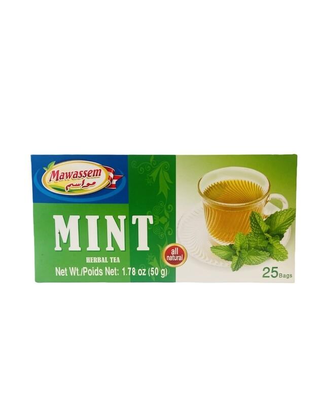 Mawassem Mint Herbal Tea 24x50gx25b