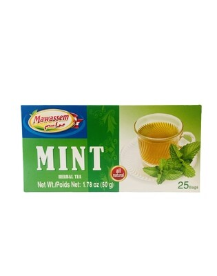 Mawassem Mint Herbal Tea 24x50gx25b