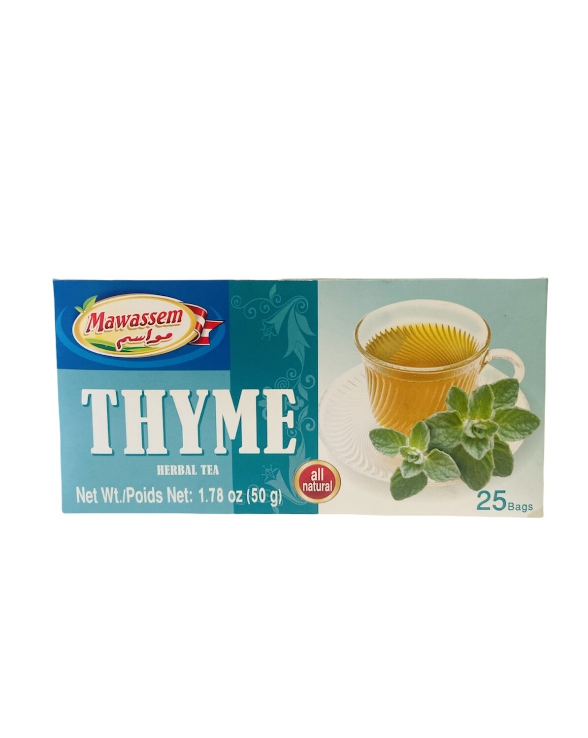 Mawassem Thyme Herbal Tea 24x50gx25b