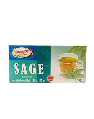 Mawassem Sage Herbal Tea 24x50gx25b