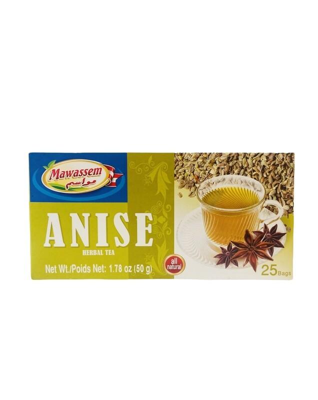 Mawassem Anise Herbal Tea 24x50gx25b