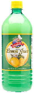 Woebers Lemon Juice 12x32oz