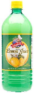 Woebers Lemon Juice 12x32oz
