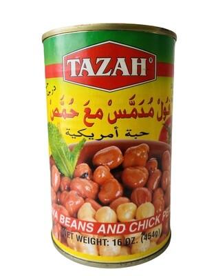 Tazah Fava Beans & Chick Peas 24x16oz