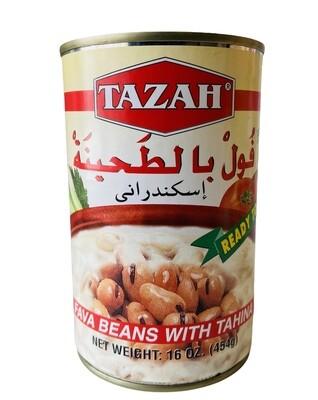 Tazah Fava Beans With Tahina 24x16oz