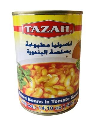 Tazah White Beans With Tomato Sauce 24x16oz