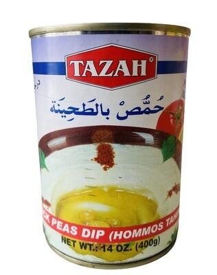 Tazah Chick Pea Dip Hummus Tahina 24x16oz