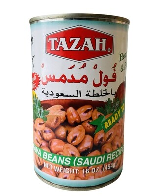 Tazah Fava Beans Saudi Recipe 24x16oz
