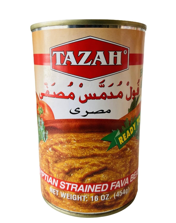 Tazah Egyption Strained Fava Beans 24x16oz