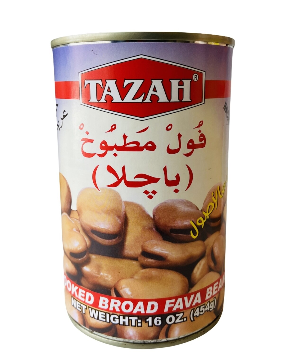 Tazah Cooked Broad Fava Beans 24x16oz