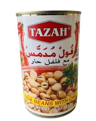 Tazah Fava Beans With Chili 24x16oz