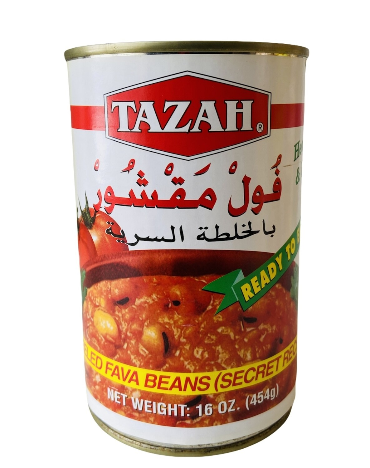 Tazah Peeled Fava Beans Secret Recipe 24x16oz