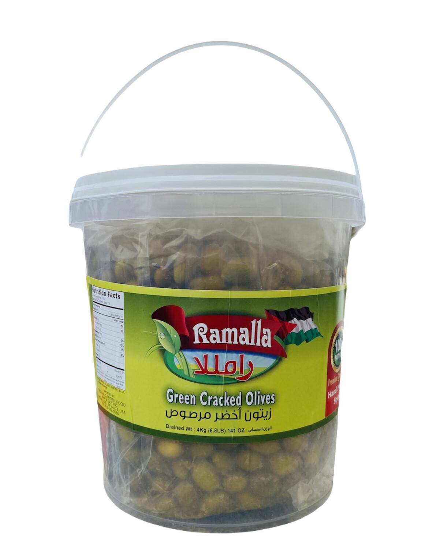 Ramalla Green Cracked Olives 2x4kg