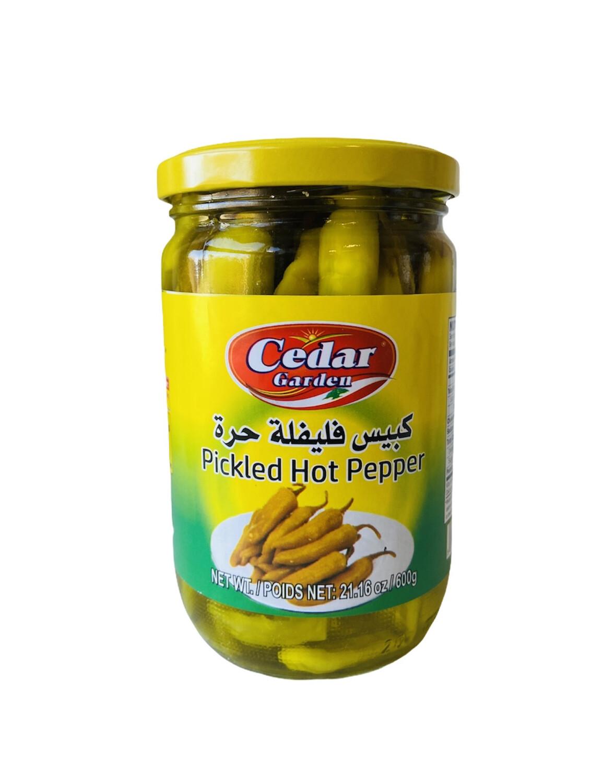 Cedar Garden Pickled Hot Peppers 12x600g
