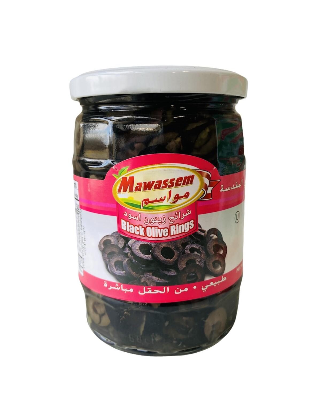 Mawassem Sliced Black Olives 12x20oz